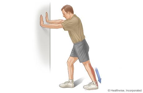 Calf stretch exercise