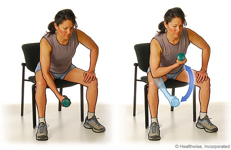 Bicep curls exercise